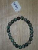 Bracelet perles 8mm en vrai Turquoise - Taille unique - Elastique