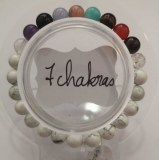 Bracelet protection 7 chakras + Howlite - Perles 8mm