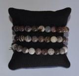 Bracelet Agate du Botswana - Perles 8mm