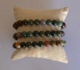 Bracelet Agate Mousse Verte - Perles 8mm