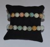 Bracelet Amazonite - Perles 10mm