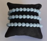 Bracelet Angélite - Perles 8mm
