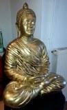 Bouddha assis en résine