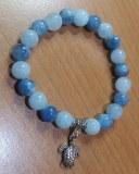 Bracelet Aigue Marine - 18cm
