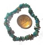Bracelet baroque en vrai Turquoise - Taille unique - Elastique