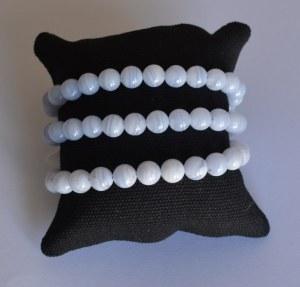 Bracelet Calcédoine Bleue - Perles 8mm