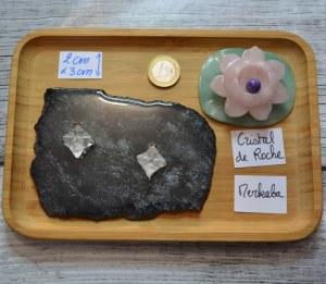 Pendentif Cristal de roche - Quartz - Merkaba