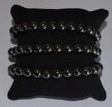 Bracelet Hématite - Perles 8mm