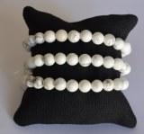 Bracelet Howlite - Perles 8mm