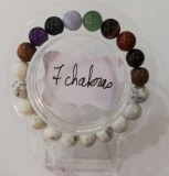 Bracelet protection 7 chakras + Howlite - Perles 10mm