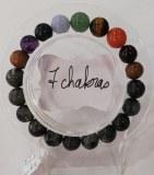 Bracelet protection 7 chakras + Larvikite - Perles 10mm
