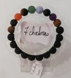 Bracelet protection 7 chakras + Lave - Perles 10mm