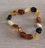 bracelet ambre bébé multicolor