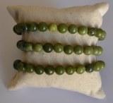 Bracelet Jade néphrite - Perles 8mm