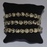 Bracelet Japse Dalmatien - Perles 8mm