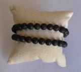 Bracelet Lave - Perles 8mm