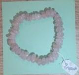 Bracelet en Morganite ou Beryl Rose