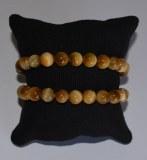 Bracelet Oeil de tigre jaune clair - Perles 8mm