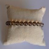 Bracelet Quartz fumé - Perles 8mm