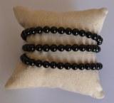 Bracelet Spinelle noir - Perles 5mm