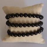 Bracelet Tourmaline noire - Perles 8mm