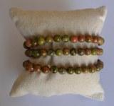 Bracelet Unakite - Perles 6mm