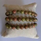 Bracelet Unakite - Perles 8mm