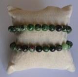 Bracelet Zoïte rubis - Perles 8mm